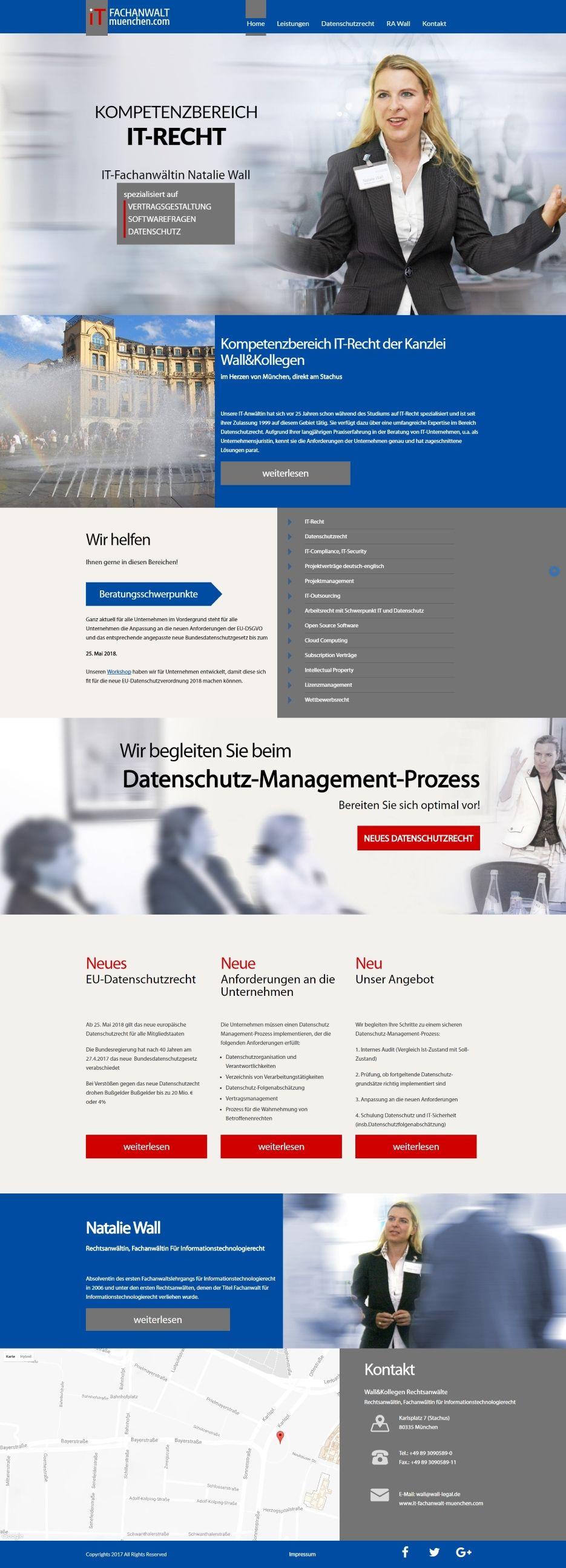 Webdesign für IT Fachanwalt