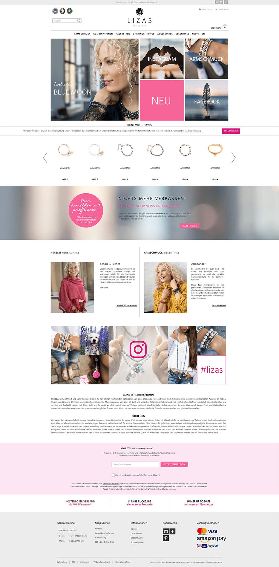 Webdesign für Lizas
