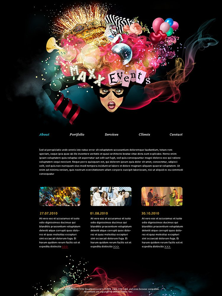 "Webdesign für ""Maxx Events"""
