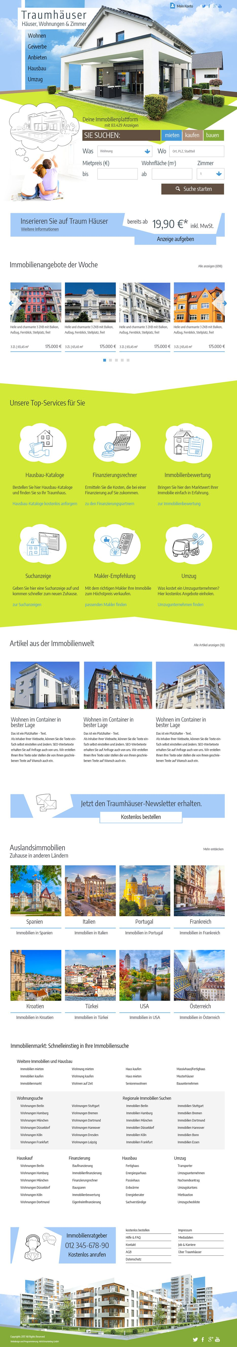 Webdesign Imobillien
