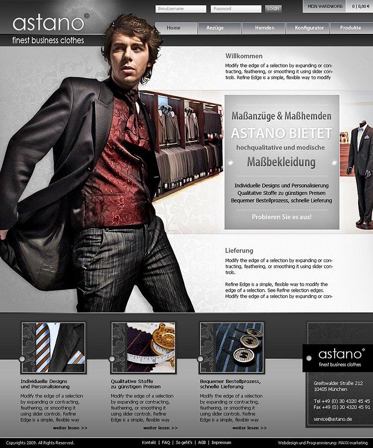 """Webdesign zum Thema """"Kleidung"""""""