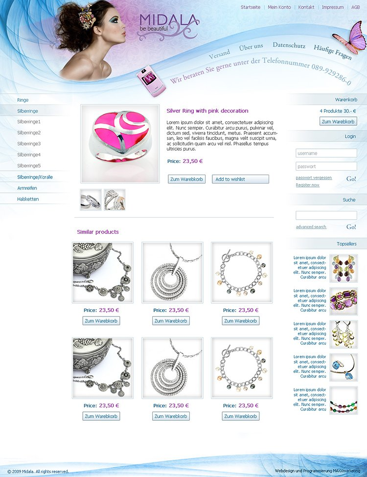 Webdesign-Schmuck-Onlineshop