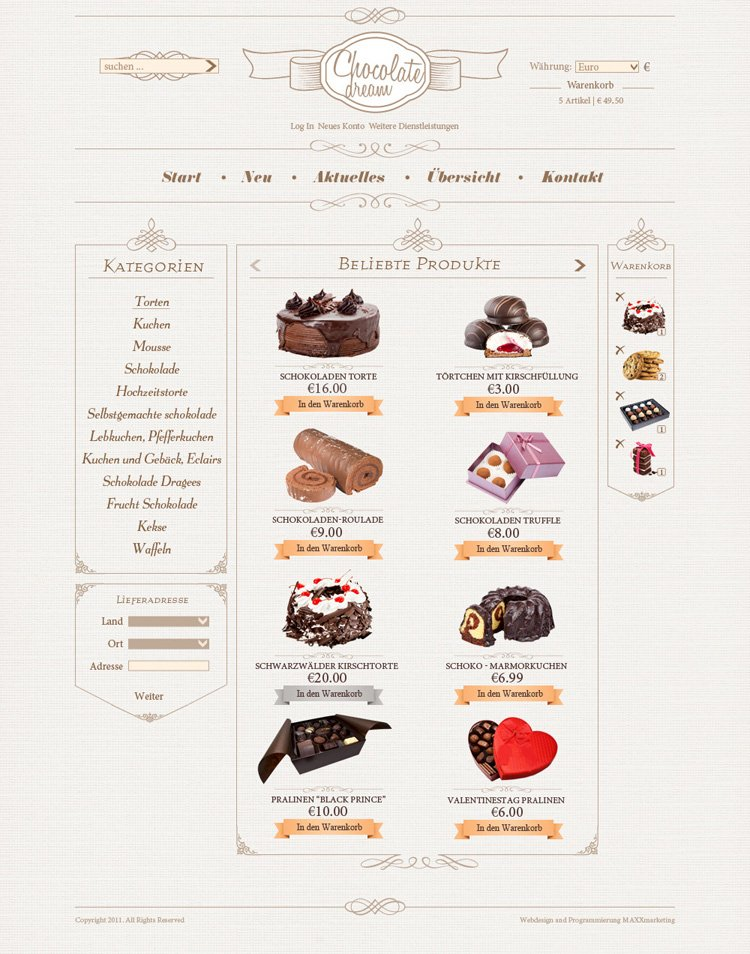 Webdesign-Suessigkeiten-Onlineshop