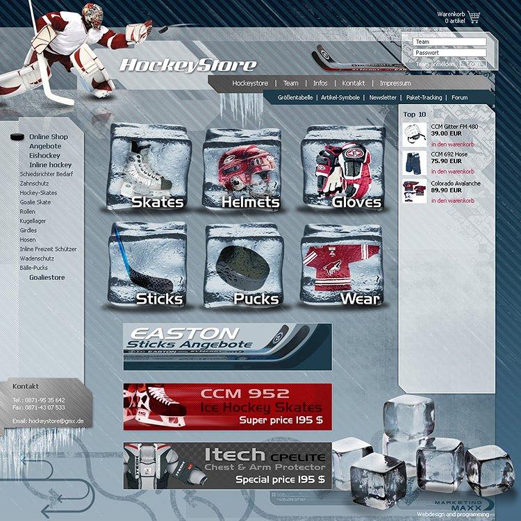 Umgesetzt wurde das Design, Online-Shop, Rechnungsmodul für den Ladenbetrieb.