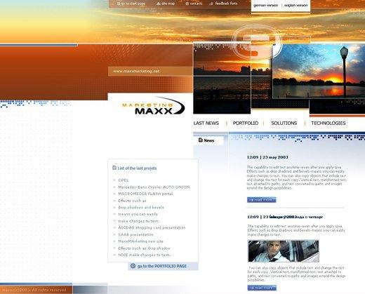 Web-Design der Startseite 2