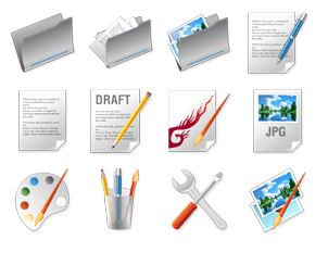 """Icon Design Thema """"Designer tools"""""""