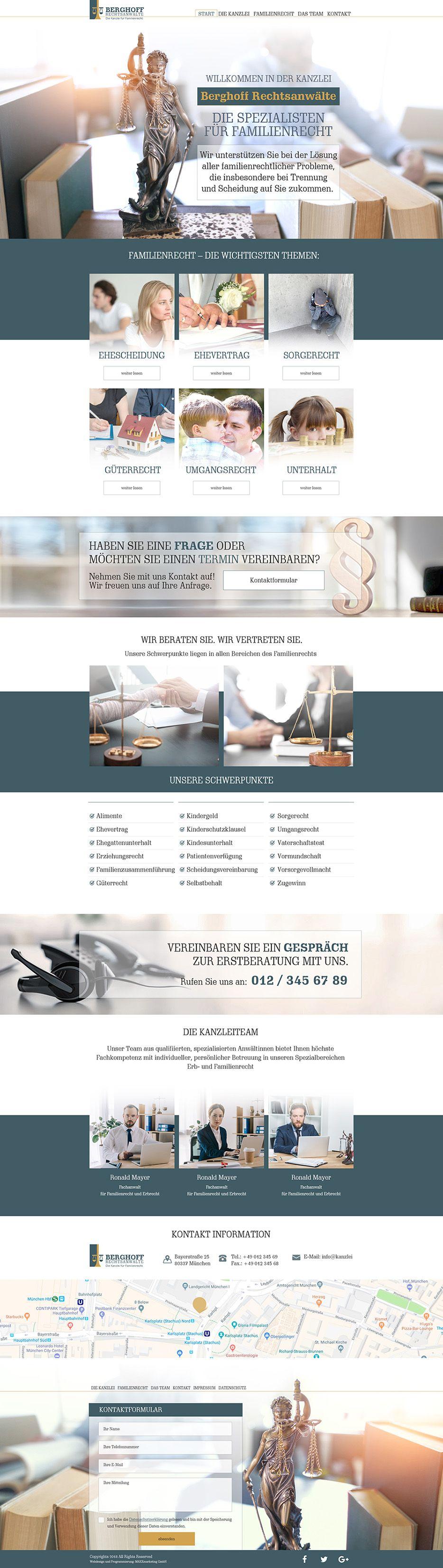 Webdesign für Berghoff Rechtsanwälte