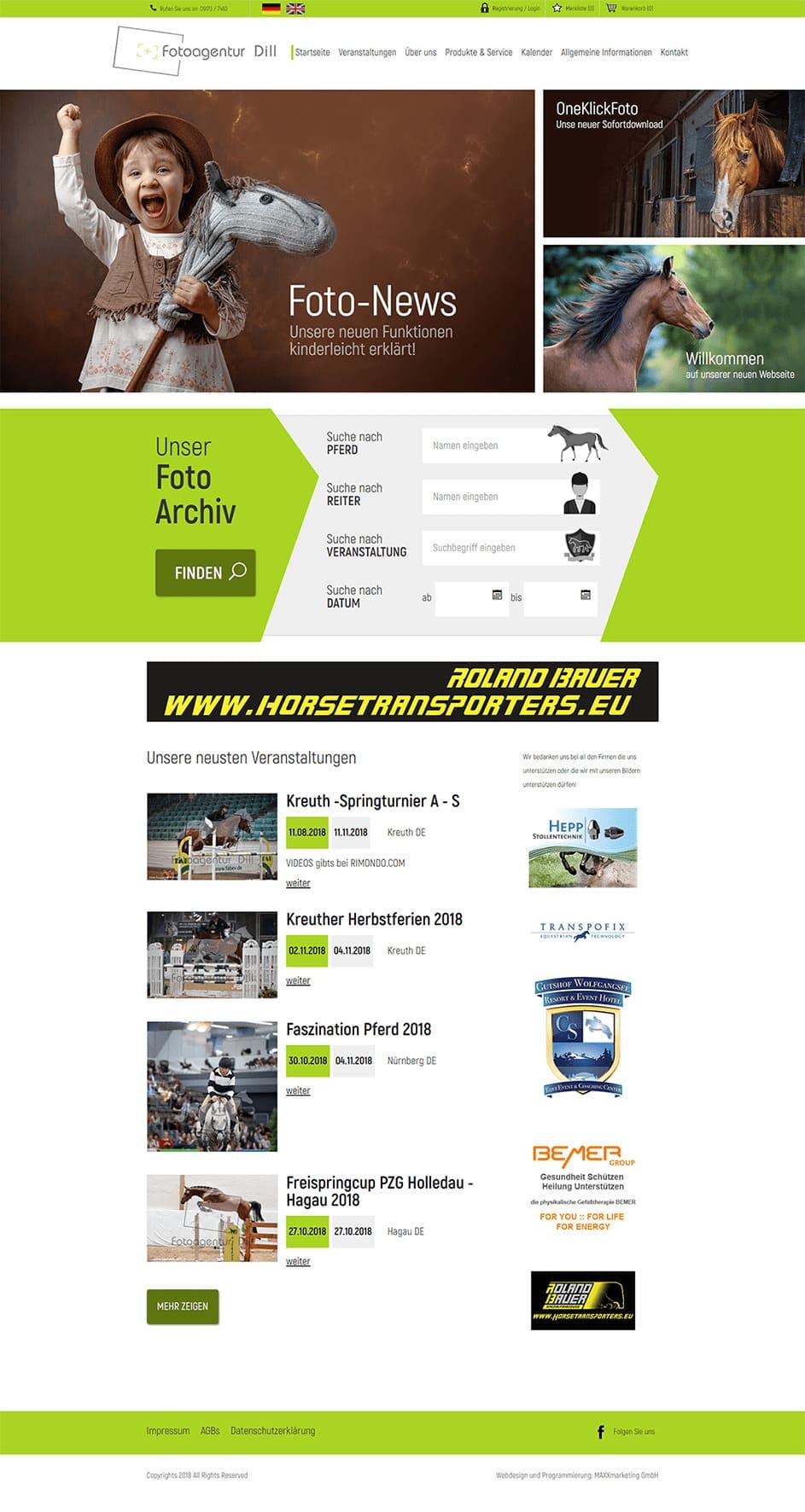Webdesign für Fotoagentur Dill