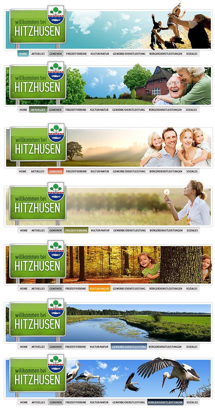 Webdesign der Infoseite