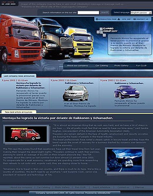 Webdesign der Startseite.