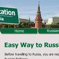 """Webdesign zum Thema """"Reiseeinladung nach Russland"""""""
