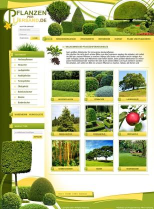 """Web design zum Thema """"Pflanzenshop"""""""