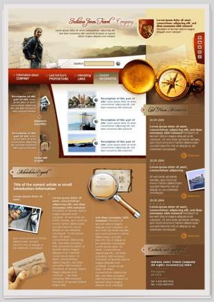 """Webdesign zum Thema """"Abenteuer Reisen"""""""