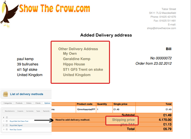 Joomshopping Forum: Shipping / Payment ➨ Modify PDF invoice