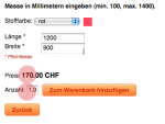 JoomShopping free attribute calcule as m3