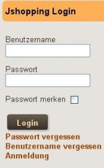 Joomshopping login module