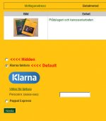 Klarna as default selection in payment