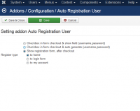 Auto Registration User