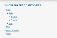 Category Tree, Horisontal, Vertical menu