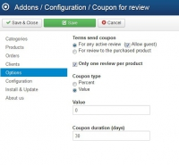 Coupon for review