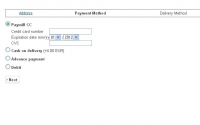 Paymill Credit card