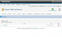 XML Feed export