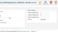 Free Attribute calculate as m3