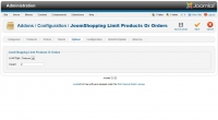 Limit Products Or Orders