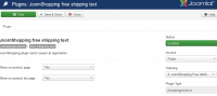 Free shipping text product
