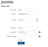 Show password registration