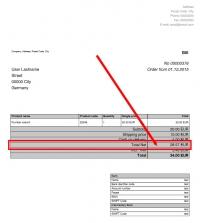 Order invoice Netto