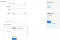 Additional fields registration