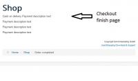 Checkout payment description