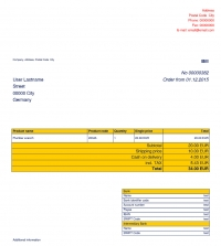 Order invoice Color