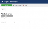 Attribute price