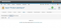 Product Label Import CSV