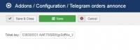 Telegram/Viber orders annonce
