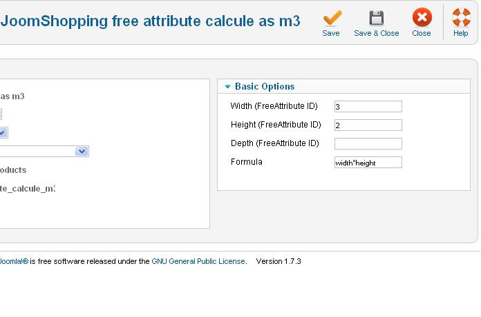 Aw: Free Attribute calculate as m3