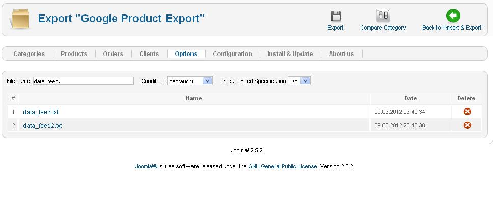 "Aw: Google Export ""warning"" produktyp"