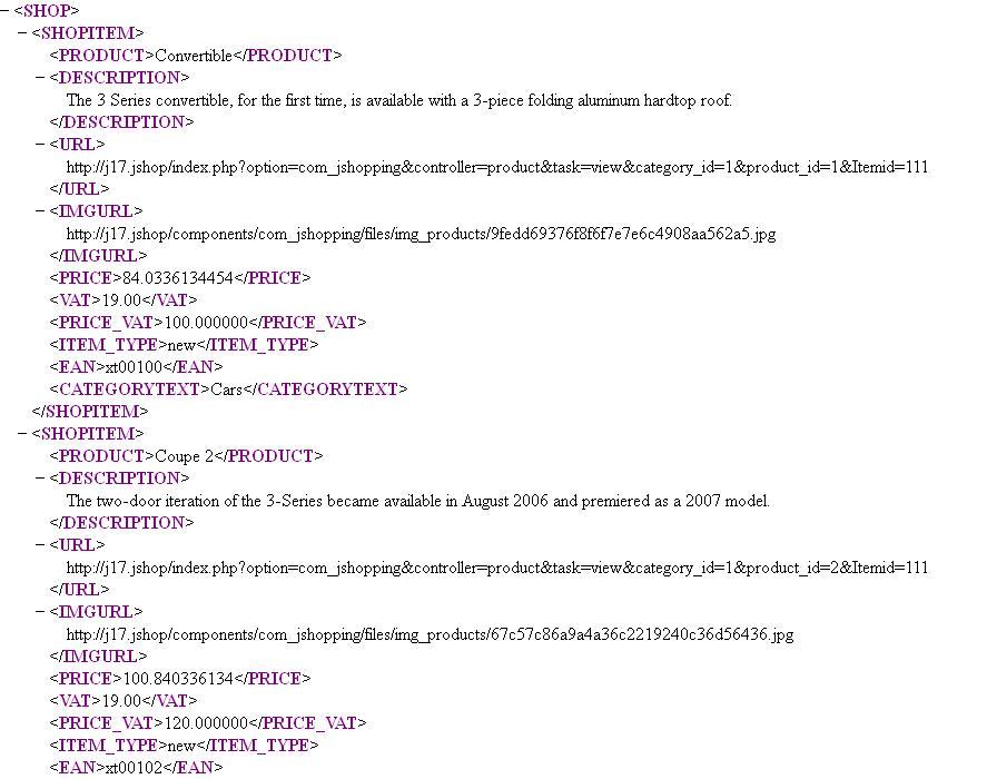 Aw: XML Feed import